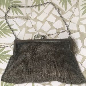 Wow!!! Vintage Sterling L.S. Mesh Chain Snap Bag
